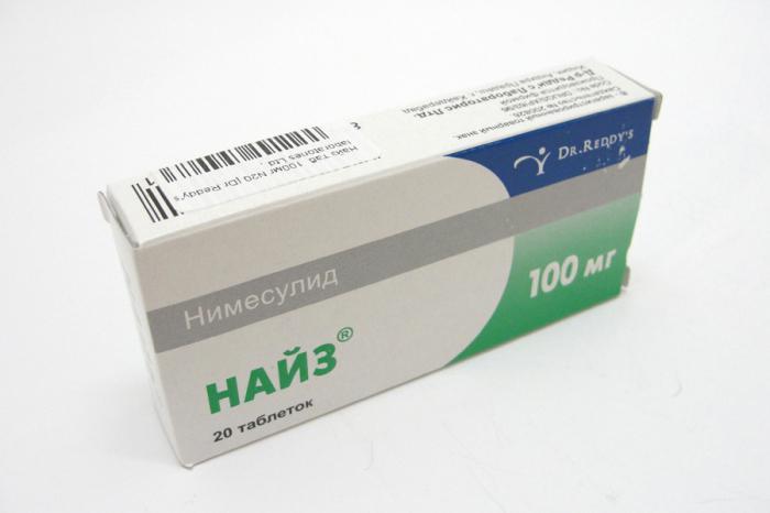 Инструкция по применению лекарственного средства Найз